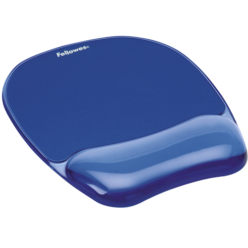 FELLOWES CRYSTAL MOUSE PAD & WRIST REST (GEL)